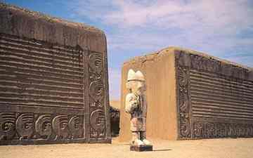 Chan Chan is the vast adobe city of the Chimu empire, which immediately predated the Incas