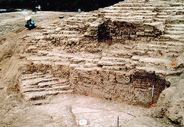 Excavations at Jiroft's Konar Sandal A, one of the site's two major mounds, are revealing the base of what may have been one of the world's largest ziggurats. (Mohammad Eslami-Rad / Gamma)