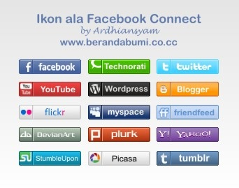 Pratinjau ikon ala facebook connect