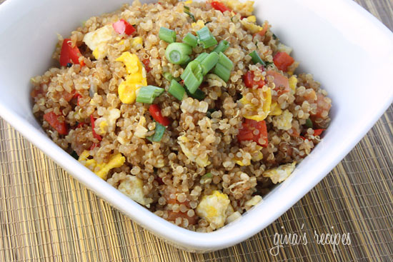 Quinoa fried rice skinnytaste quinoa makes a great alternative to rice in this quick and easy stir fry i often make a large batch of quinoa and keep the rest in my fridge to use ccuart Image collections