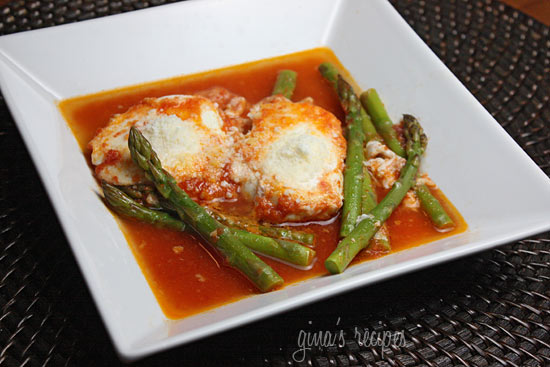 Eggs in Purgatory with Asparagus | Skinnytaste