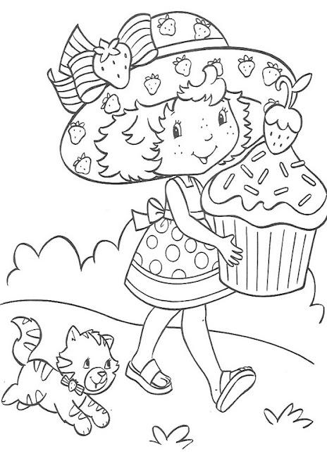 Dibujos De Tarta De Fresa Para Pintar Y Colorear