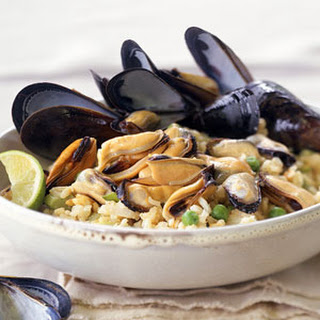 Curried Mussel Pilaf.