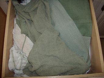 wrinkled towels