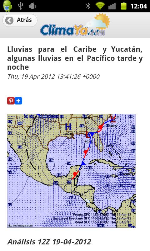 ClimaYa Latin America Weather - screenshot