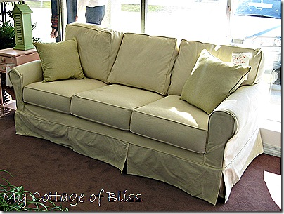 The Showroom Sofa Shown Here Was Covered In A Pale Yellow Twill Fabric But There Vast Array Of Other Fabrics And Colors To Chose From Far More Than