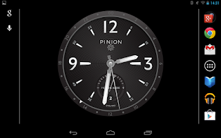 Screenshot of Pinion Desk Clock