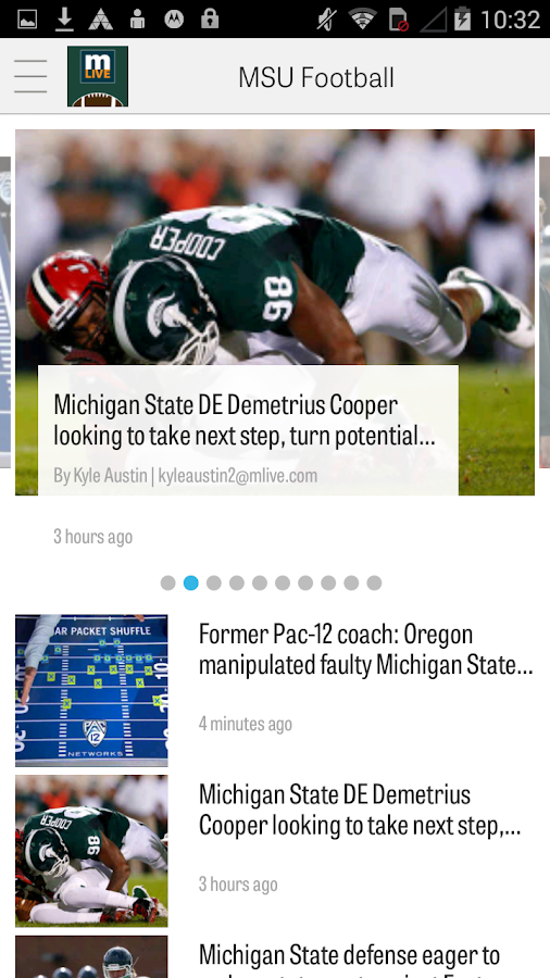 MLive.com: MSU Football News- screenshot
