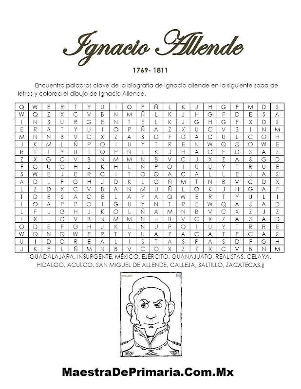 Ejercicio De La Biografía Para Niños De Ignacio Allende