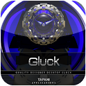 Blue Clock WIDGET GLUCK icon