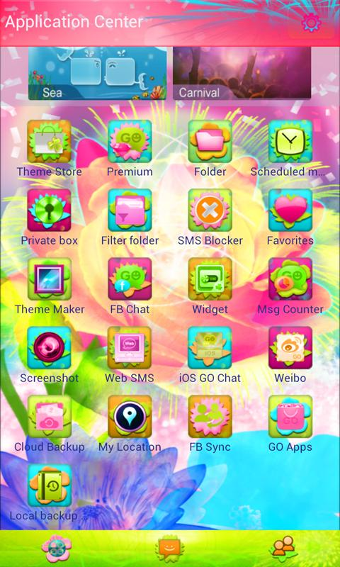 Beautiful Fiesta GO SMS Pro - screenshot