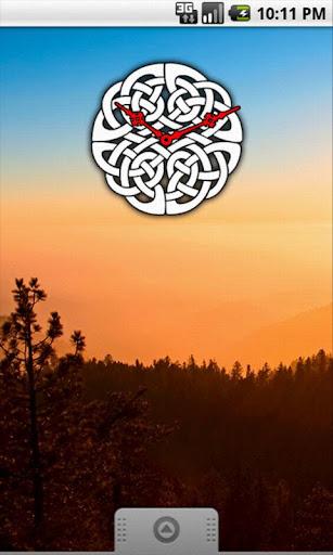 Celtic Knot Clock Widget