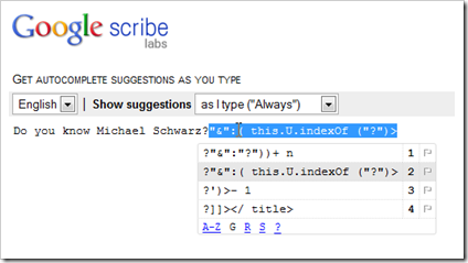 Google scribe labs