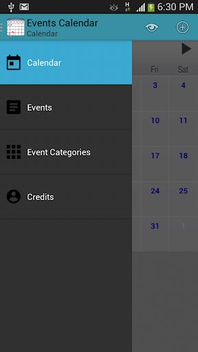 Events Calendar Planner