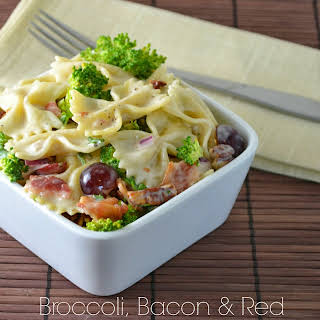 Broccoli, Bacon and Red Grape Pasta Salad.