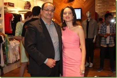 Hayo Cohen, presidente do grupo The Brands´Company e Patrizia Cohen