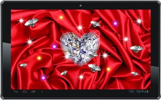 【免費個人化App】Diamond Heart 3D LiveWallpaper-APP點子