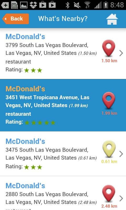Las Vegas Guide, hotels & map- screenshot