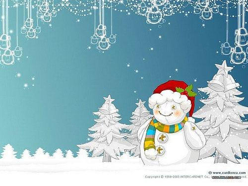 Snow White Winter Christmas Desktop Background