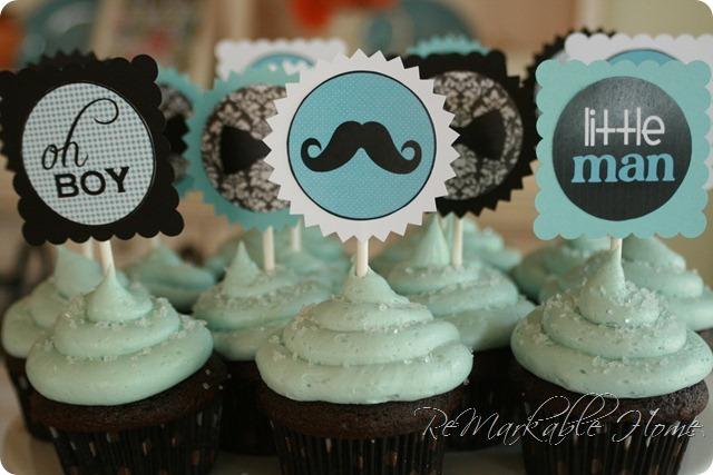 Baby Mustache Cake