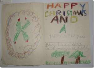 Early Christmas Card (1960s) Inside