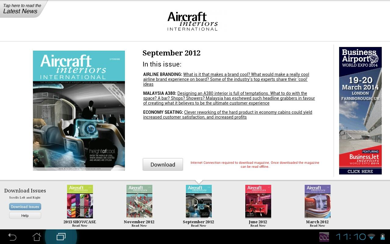 Aircraft Interiors Intl- screenshot