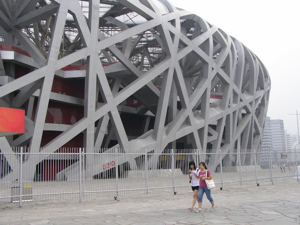 Obiective turistice China: stadion olimpic Beijing.JPG