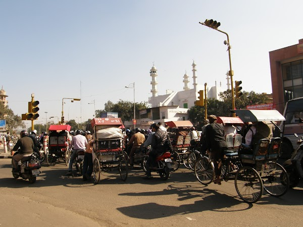 Obiective turistice India: trafic jam in Jaipur.JPG