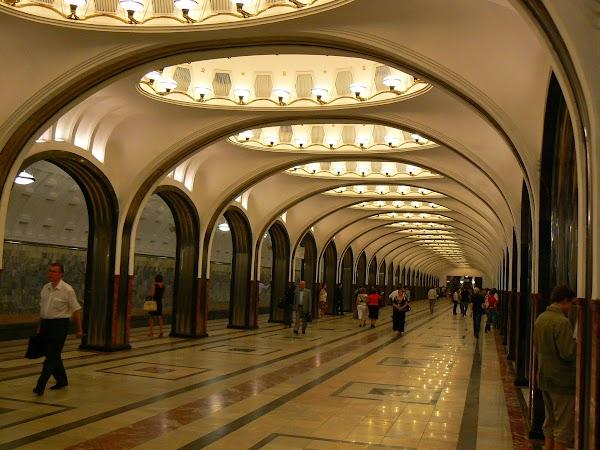 Obiective turistice Rusia: metro Mayakovskaya, Moscova