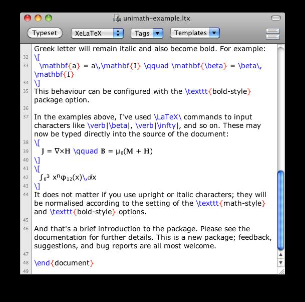 LaTeX Alive — Unicode-math in a picture