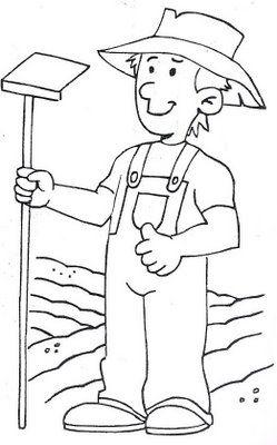 La Granja Y Los Granjeros Dibujos Para Pintar