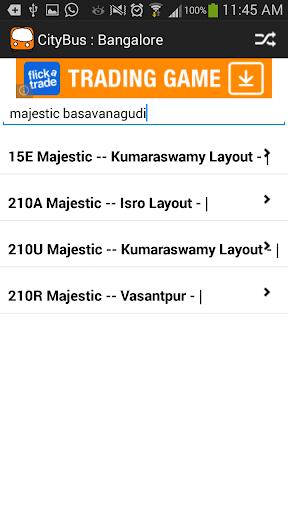 CityBus : Bangalore Timings