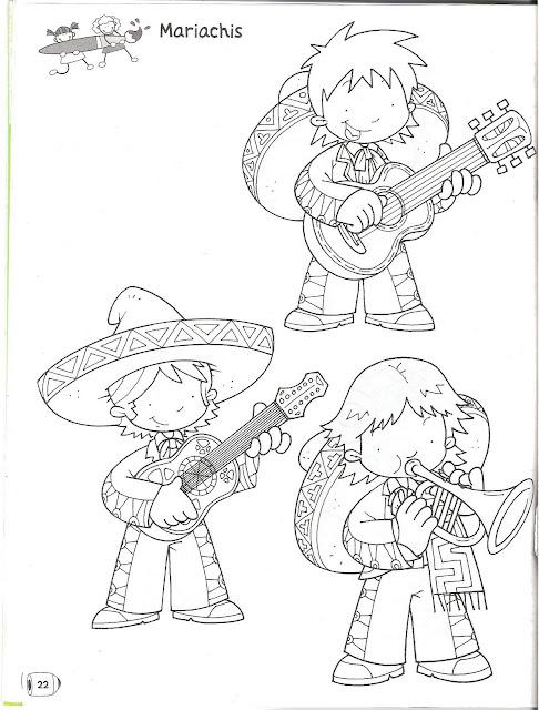 Dibujos De Mariachis Para Colorear