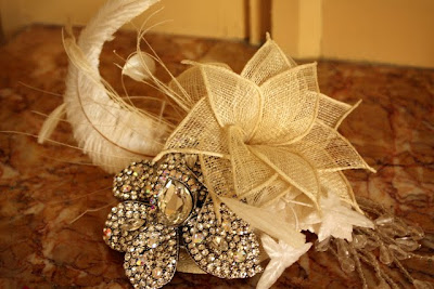 Bridal head piece by Myra Callan of twigs and honey