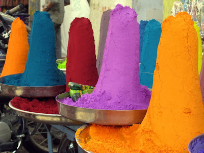 Dye cones in Pushkar