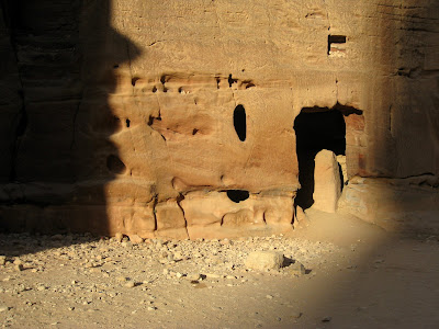 The ruins of Petra in the morning