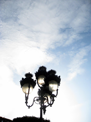 Street lamps on Avenue Habib Bourguiba in Tunis