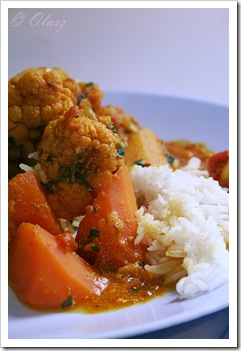 curry z kalafiora, cauliflower curry