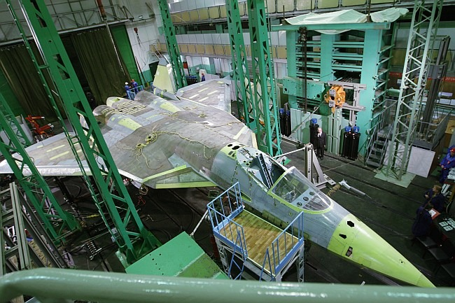 Fifth Generation Fighter Aircraft [FGFA] PAK-FA (T-50) being assembled