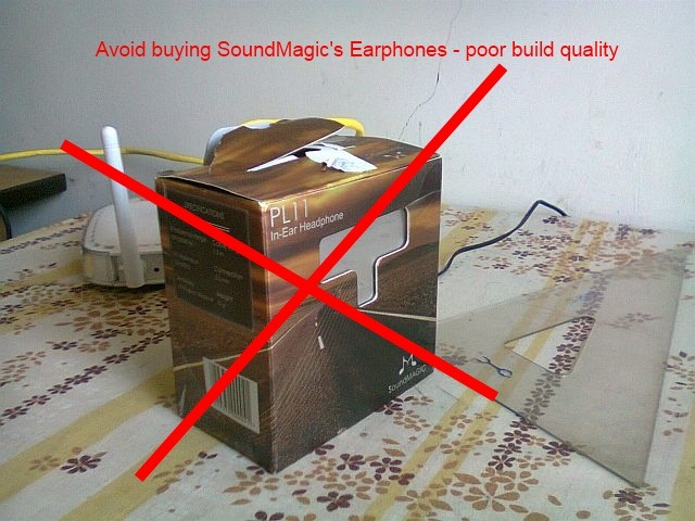 Avoid buying the Chinese brand SoundMagic's earphones - have poor build quality