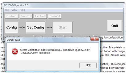 hwo? error     at addres 01B46DC9 in module 'ig4dev32 dll