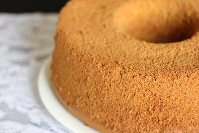 close-up photo of a chiffon cake