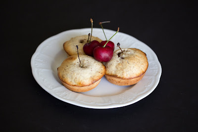 photo of a plate of Cherry Almond Cakes
