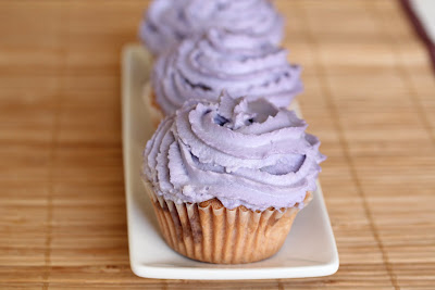 purple yam cupcakes
