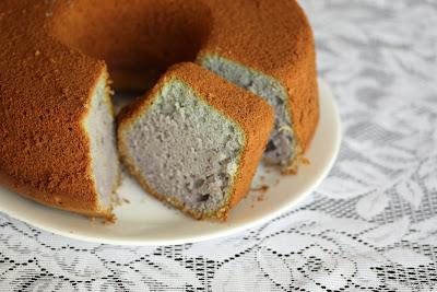 photo of a Ube (Purple Yam) Chiffon Cake