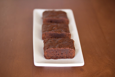 photo of brownies lined up on a plate