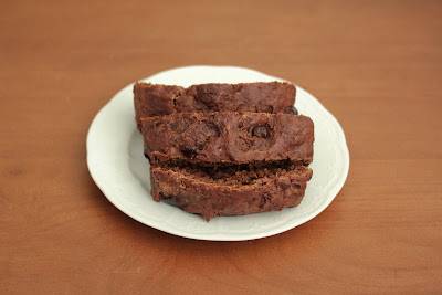 photo of slices of chocolate bread on a plate