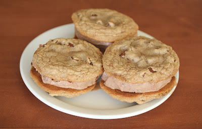 photo of ice cream sandwiches on a plate