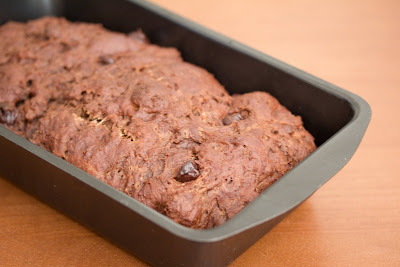 photo of chocolate bread in a pan