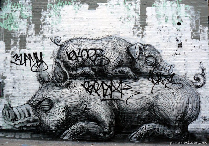 Roa, en galerie et dans la rue à Londres